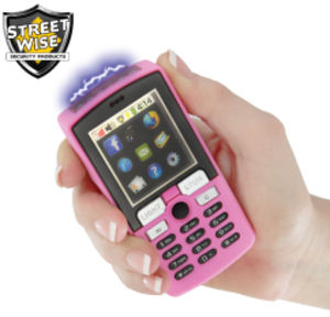 Streetwise Rechargeable Pink Immobilizer 5500k Cell Phone Stun