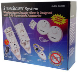 Wireless Security System with Alarm or Chime