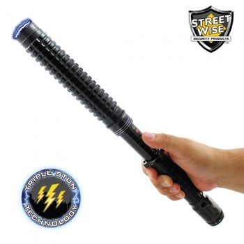 Streetwise Attitude Adjuster 13 Million Stun Baton Flashlight