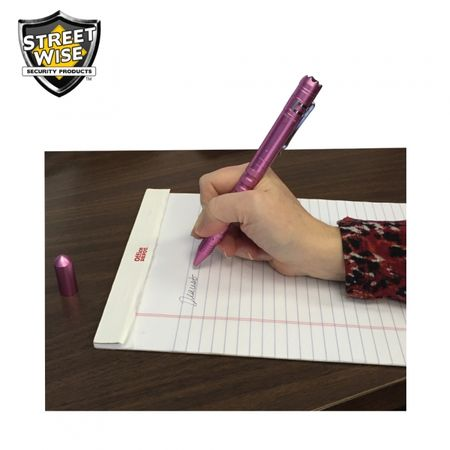 Tactical Pen w/ Light & DNA Collector - Pink
