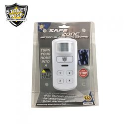 Motion Activated Alarm w/Keypad