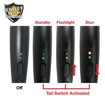 Triple Defender 27 Million Volt Stun Baton Flashlight