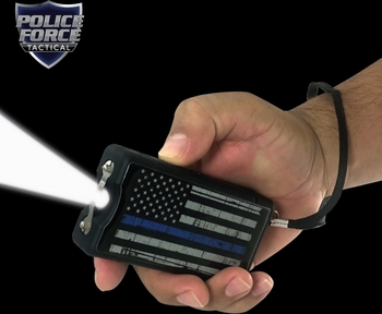Police Force 9.1 Million Volt Blue Line Stun Gun w/Paracord Bracelet