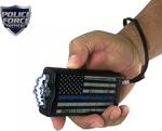 Police Force 9.1 Million Volt Blue Line Stun Gun w/Paracord Bracelet