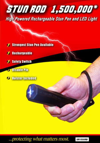 Blackout Stun Rod 1500000 Rechargeable