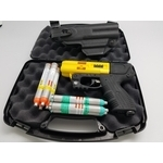 JPX4 4 Shot LE Defender Pepper Gun Yellow Bundle w/Laser & Level 2 Holster