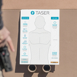 Taser Conductive Carbon Ink Paper Practice Target