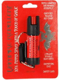 Vampire Repellent 1/2 oz Pepper Spray With a Touch of Garlic