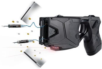 Taser X2 Defender Kit Black with Laser LED 4 live