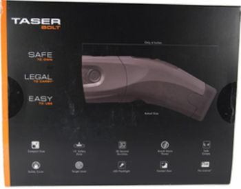 Taser Bolt with laser LED 2 live cartridges 1 soft