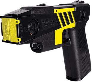 Taser M26C Kit M26C black with yellow labels 4 liv