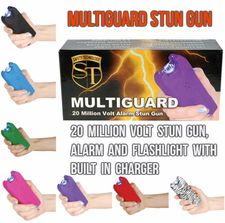 MultiGuard 20 Million Volt Stun Gun Alarm and Flashlight w/Built In Charger
