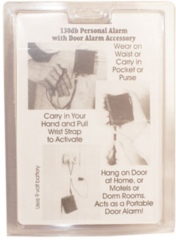 3 IN 1 130db PERSONAL ALARM WITH LIGHT