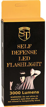 Safety Technology 3000 Lumens LED Self Defense Zoomable Flashlight