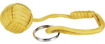 Monkey Fist Self Defense Key Chain - Yellow