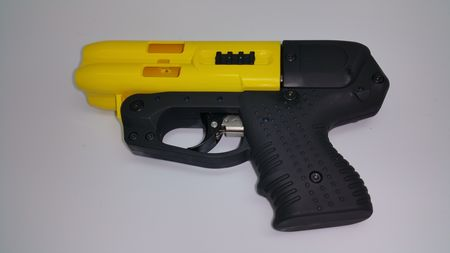 JPX4 4 Shot Pepper Gun Compact Yellow Barrel