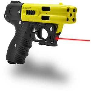 JPX4 4 Shot Pepper Gun w/Laser Yellow Barrel