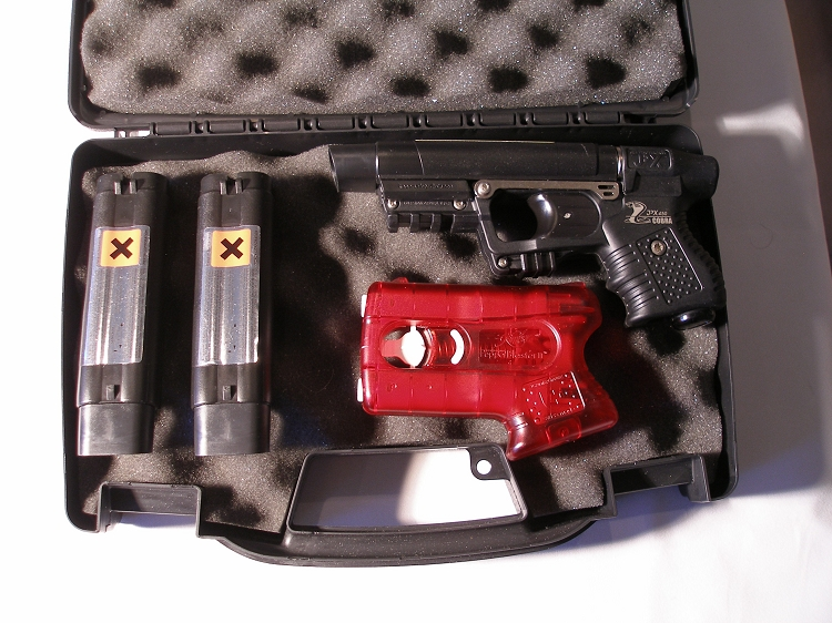 His-Her Black JPX Laser Personal Defense Bundle with Pepperblaster II